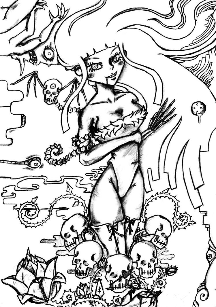 cross coloring pages with roses   Crosses With Skulls And Roses Coloring Pages Coloring Pages