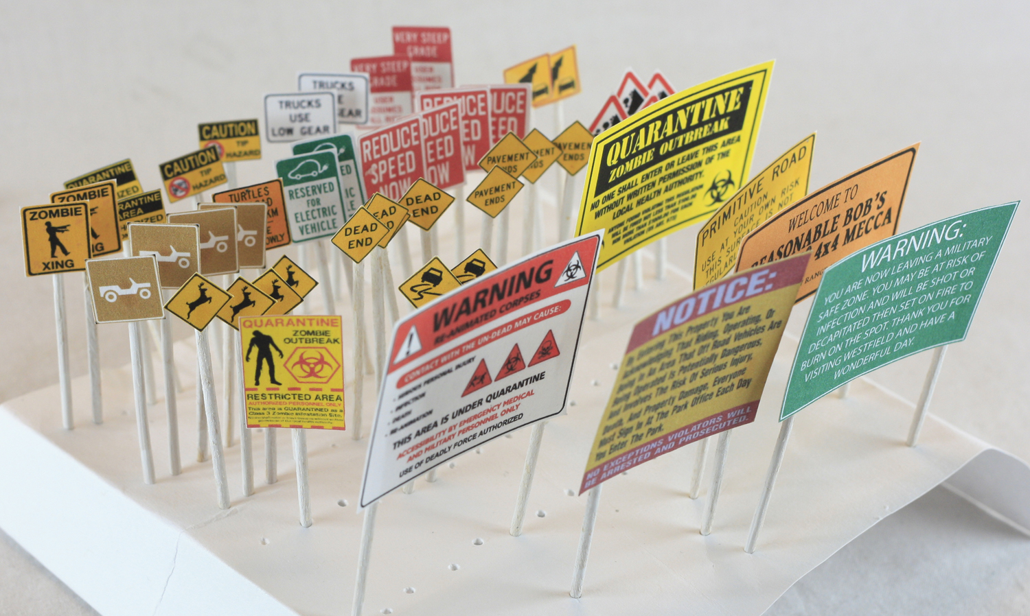 Miniature Road Signs by BobTheWrench