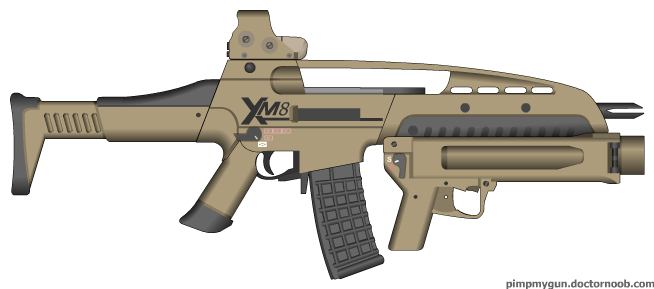 xm8 assault rifle by