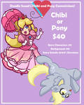 Chibi and Pony Commissions by yoshimarsart