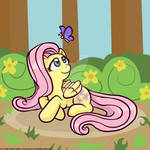 Fluttershy and a Butterfly