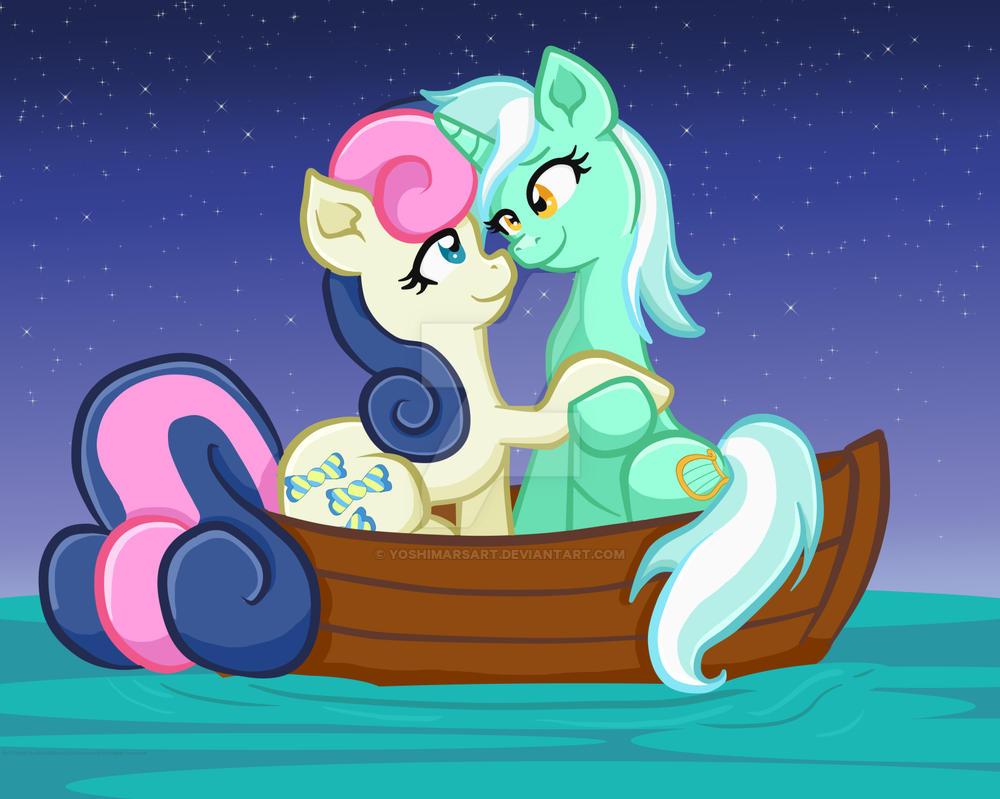 Lyra/BonBon Ship Sailing! by yoshimarsart