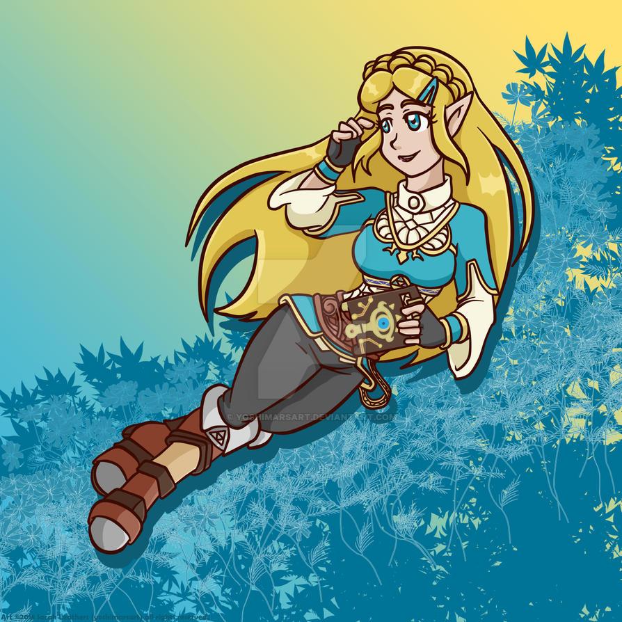 BotW Zelda - Flowers by yoshimarsart