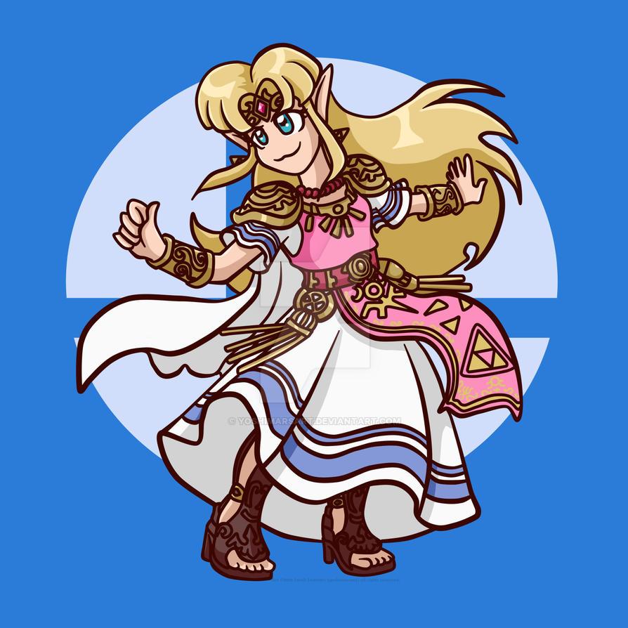 Chibi Smash Bros - Zelda! by yoshimarsart