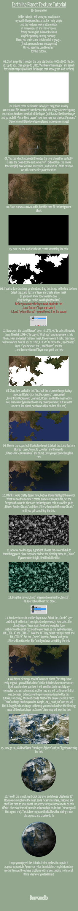 Earth-Like Planet (Texture Tutorial) by Bonvanello