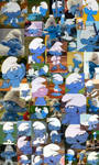 Clumsy Smurf Collage