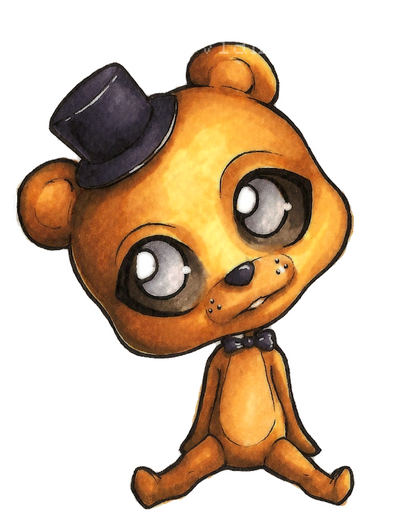 Fnaf chibis 9 golden freddy by forunth on deviantart
