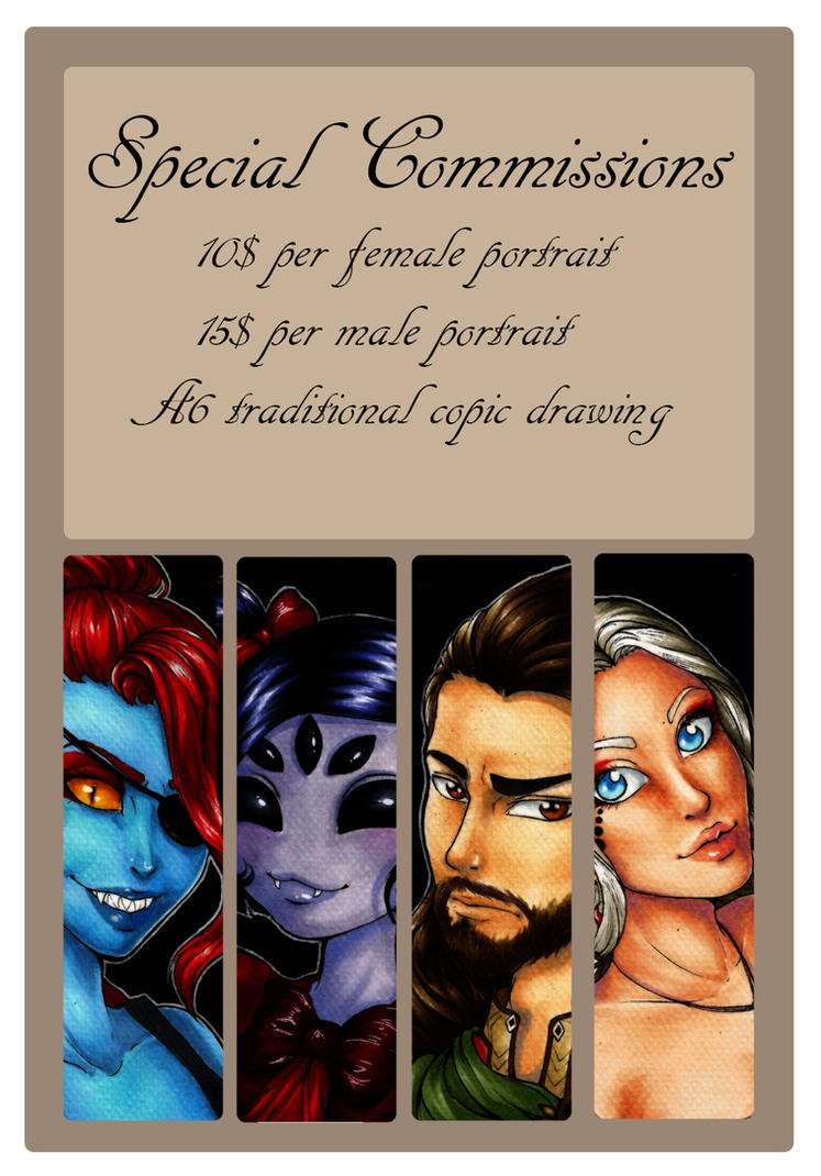 Special 10$ commissions! 7 slots left by Forunth