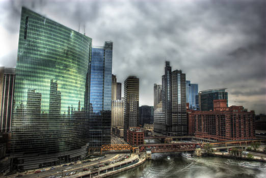 333 Wacker, Chicago River