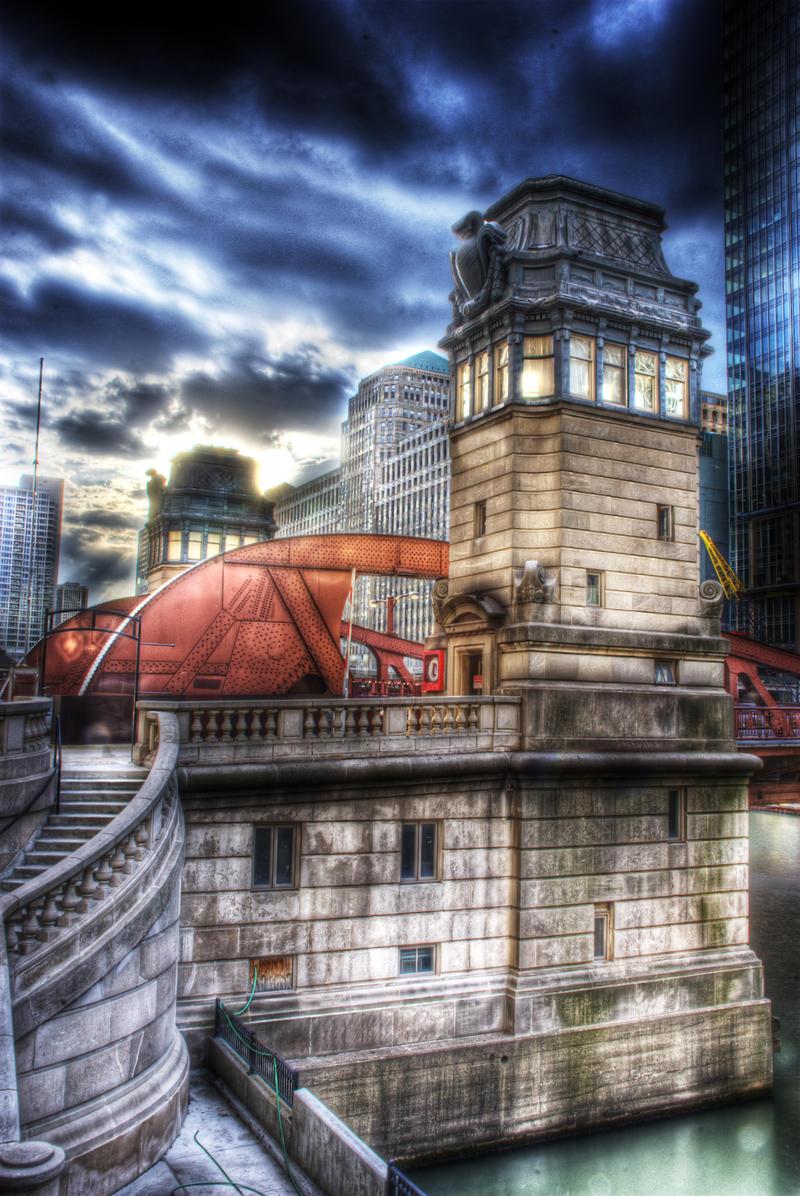 Chicago LaSalle Street Bridge by spudart