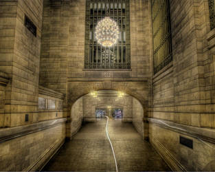 Grand Central Station hallway by spudart