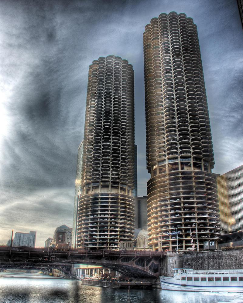 Frozen Chicago River V by spudart