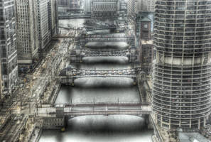 Chicago's Moving Bridges by spudart