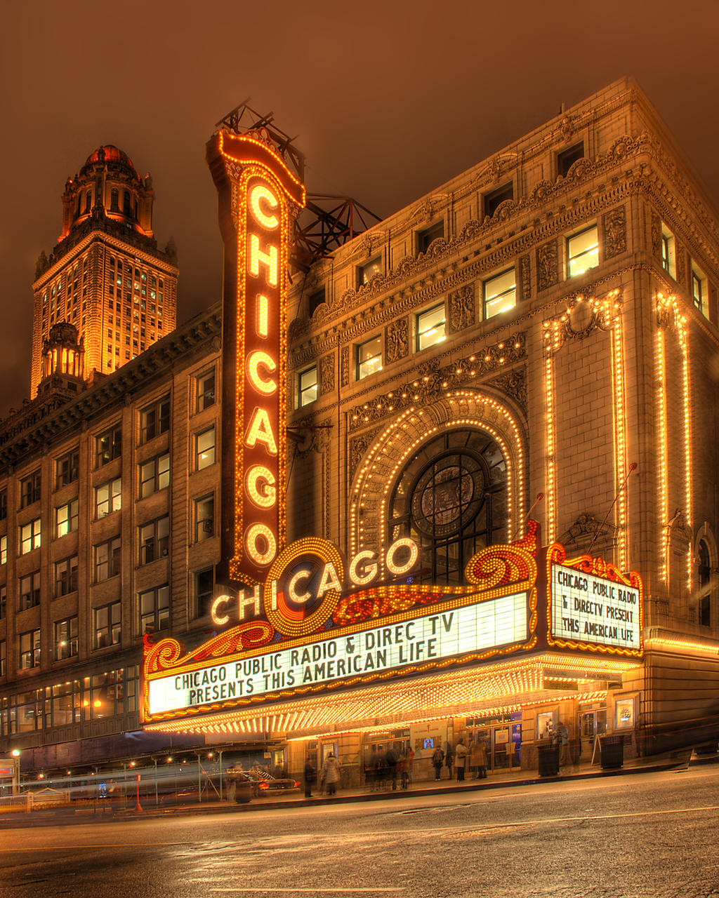 chicago theater marquee by spudart on deviantart