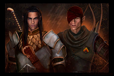 Iorveth and Yaevinn. by Servia-D