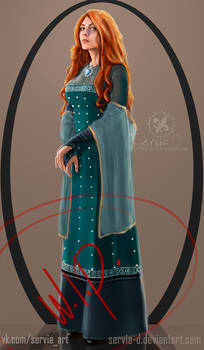 Book styled Triss. Fragment.