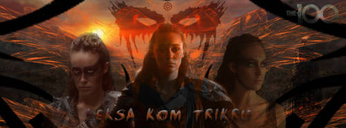 Lexa cover red the 100