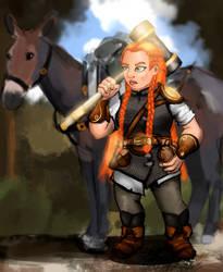 Ruzena and her mighty mule Matilda