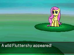 A Wild Fluttershy Appeared by DMN666