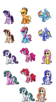 My Little Ponymons - Mane6 by DMN666