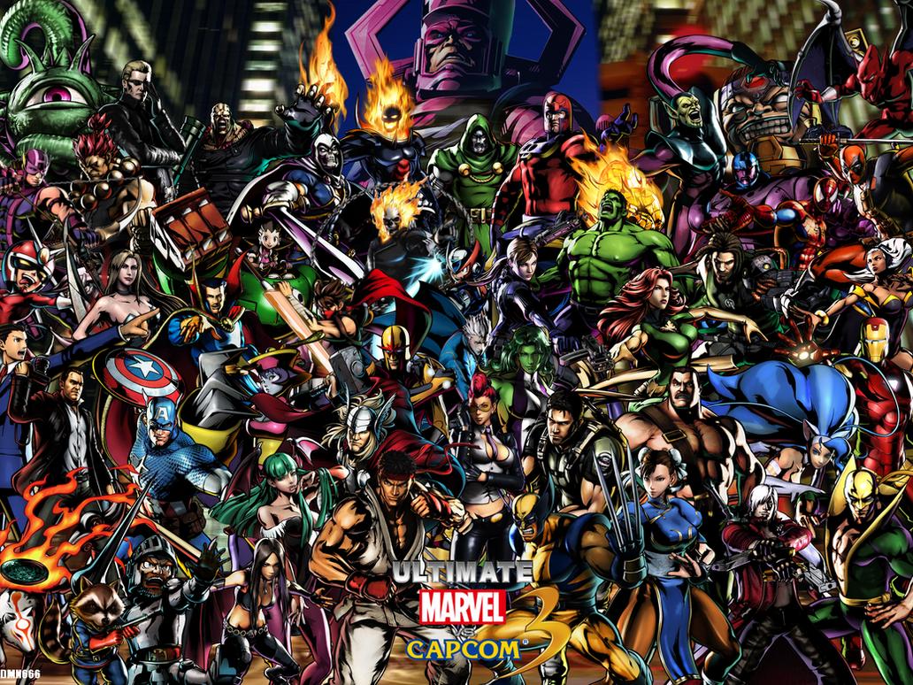 Most Inspiring Wallpaper Marvel Deviantart - ultimate_marvel_vs_capcom_3_wallpaper_by_dmn666-d4ga0qh  Perfect Image Reference_416452.png