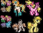 Ponymon Commission : Cherrytwist and pals