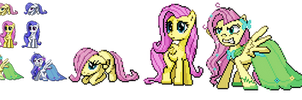 Ponymon sprites - Fluttershy Evolutions