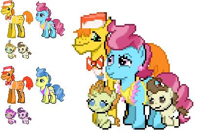 Ponymon Sprites : Cake Family by DMN666