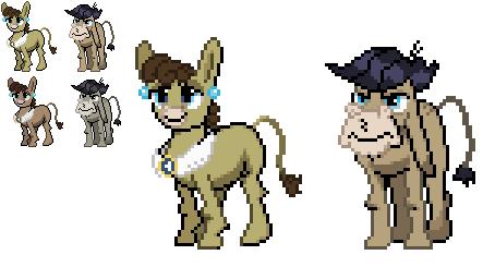 Ponymon Sprites: Cranky and Matilda by DMN666