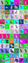 My little Pony Mon Sprite Sheet by DMN666