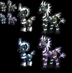 Ponymon - Blitzle and Zebstrika by DMN666