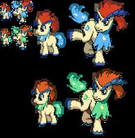 Ponymon : Keldeo sprites by DMN666