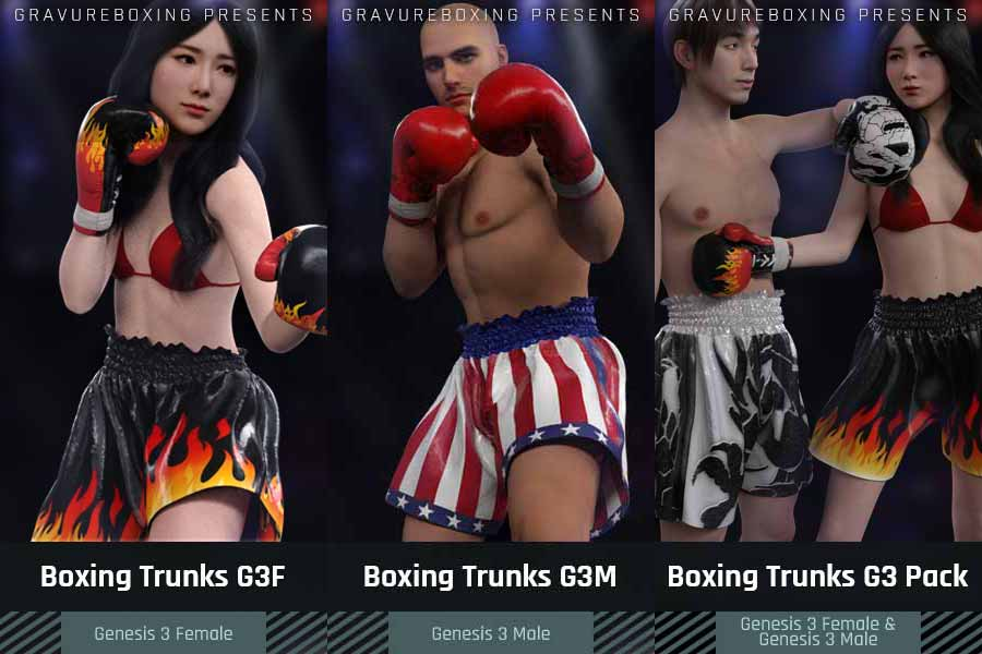 foxy boxing trunks
