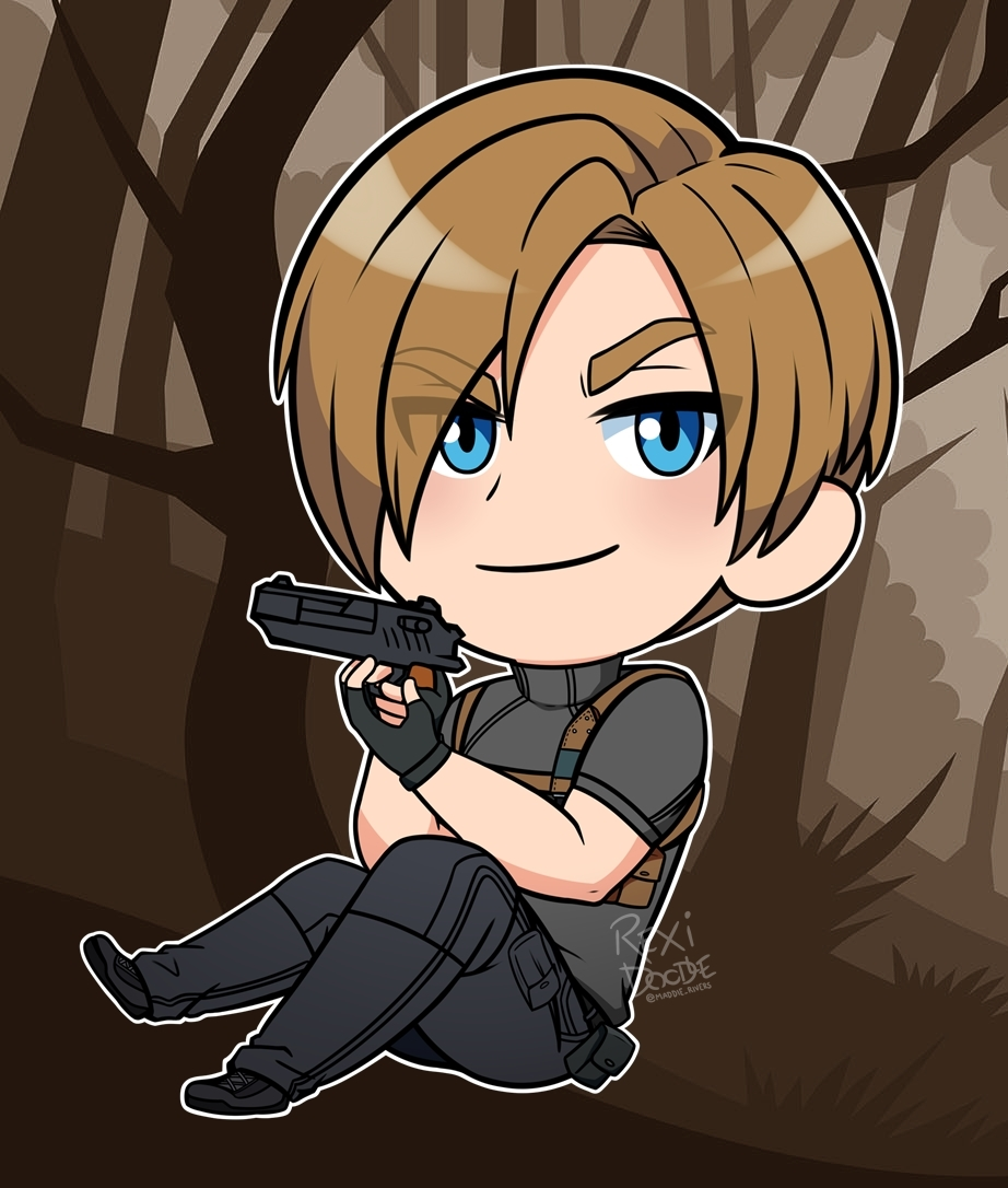 Resident Evil 4 Chibi Leon Kennedy No Jacket By Rexidoodle On
