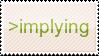 Implying stamp by glustora