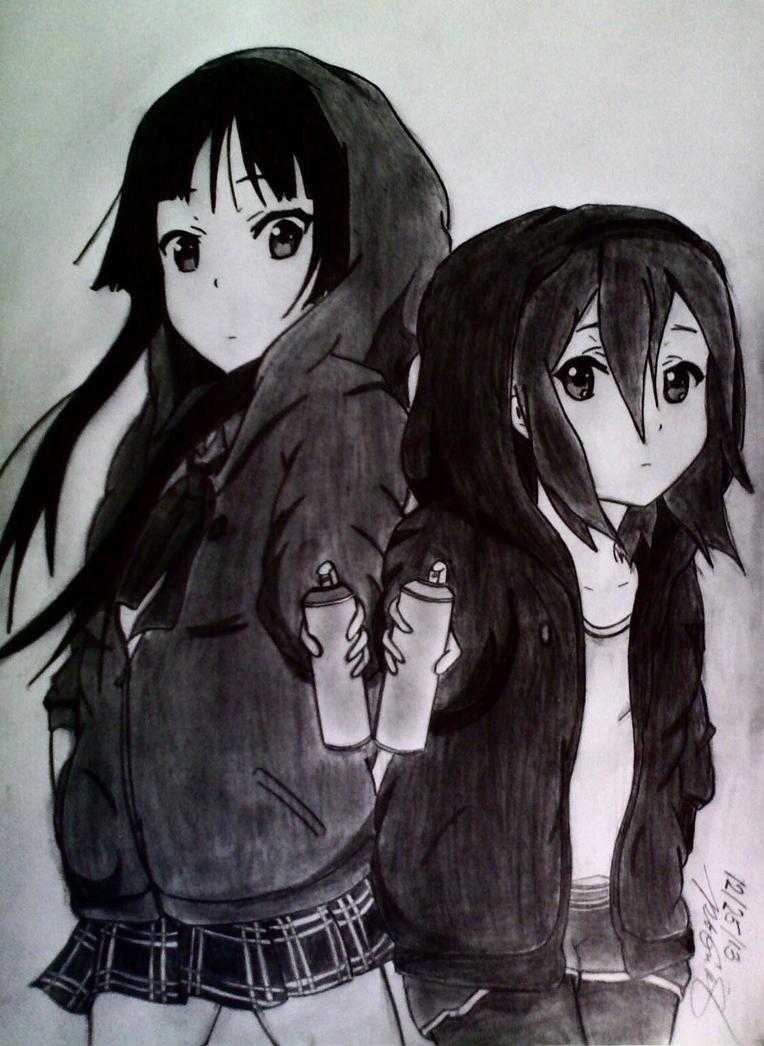 K On  Mio and Ritsu No Thank  K On Ritsu And Mio