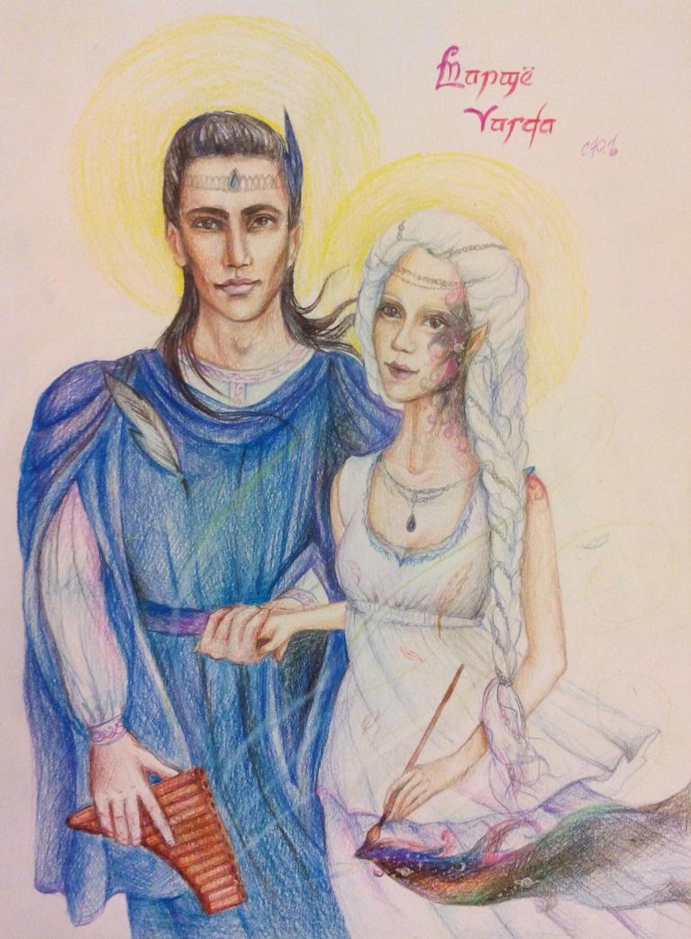 Manwe and Varda Tolkien The Silmarillion by julia94s
