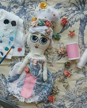 Marie Antoinette Fabric Doll