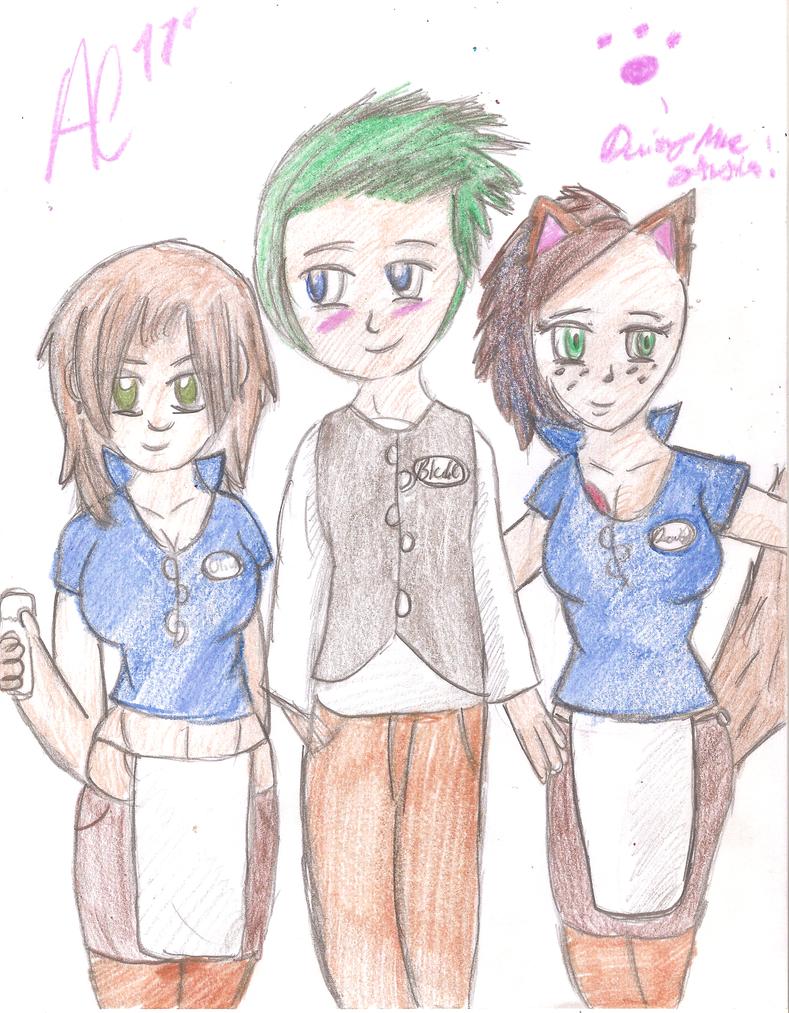 Blake, Olivia and Daisy by AzureCrazed
