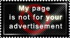 My page is not your billboard by savagebinn
