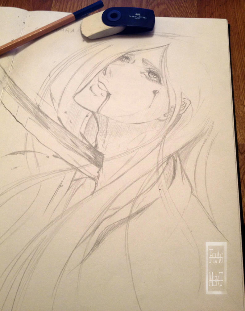 Sketching - Unohana - Farewell by IFrAgMenTIx