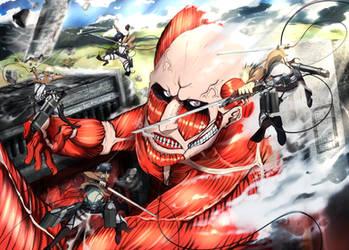 Shingeki no Kyojin - Attack on Titan by IFrAgMenTIx