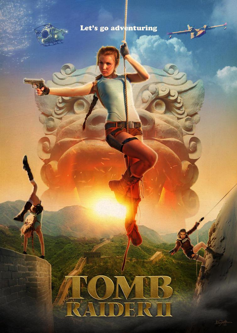 Tomb Raider 2 -poster by mruottin