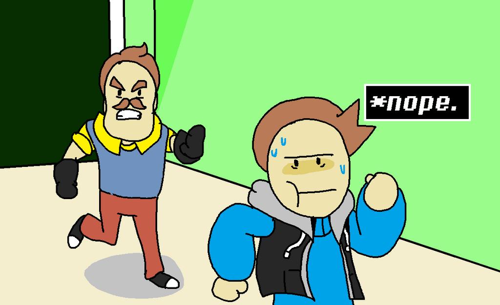 (Fan Art) When I Play Hello Neighbor! By DiegomanCo On