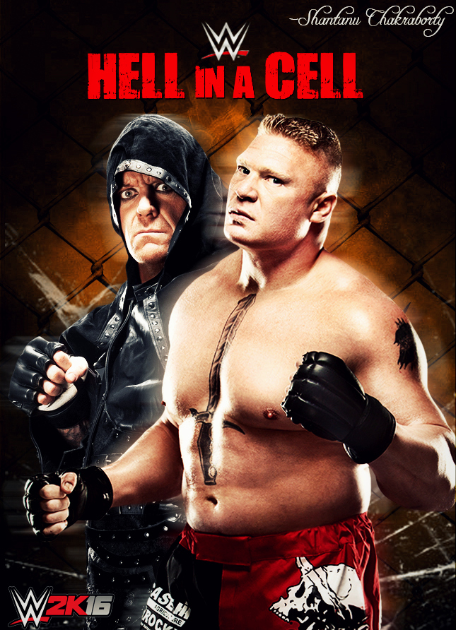 WWE Hell In A Cell 2015 Custom Poster by Shantanu009