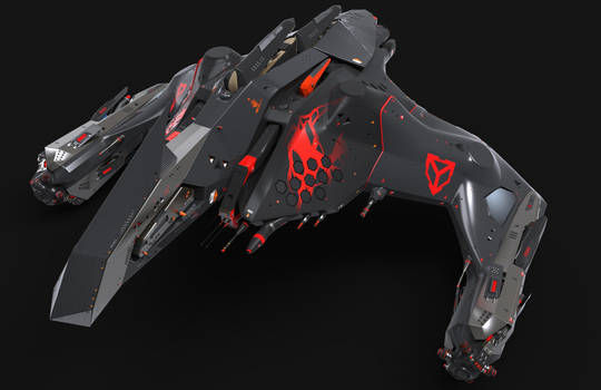 Concept spaceship for game Star Conflict