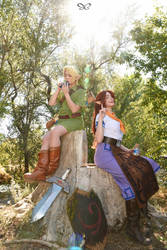 Malon and Link - Ocarina of Time