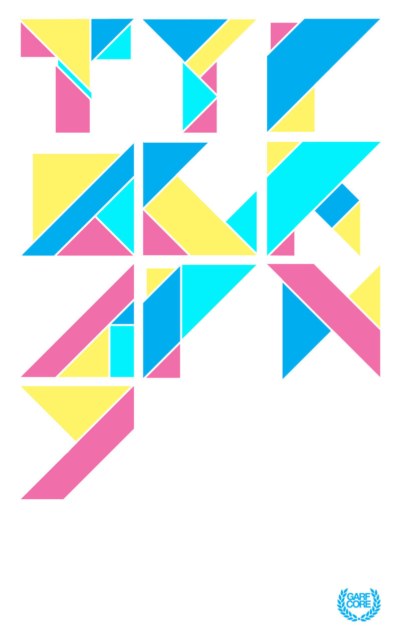 Triangle Typography. by Garfcore