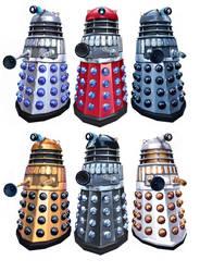 Daleks colours by Harnois75