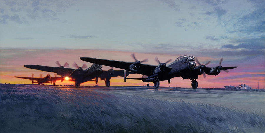 Lancasters - night mission by Harnois75